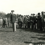 General George C. Marshall, Chief of Staff, U.S. Army, addresses officers on his trip to Northern Ireland.